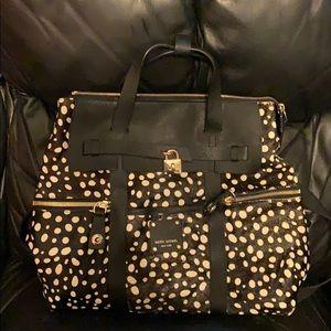 Henri Bendel leopard black jetsetter backpack